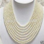 Wholesale <b>jewelry</b> Beautiful 8 Rows 6-7mm hot fashion White Freshwater Pearl Necklace DIY Fashion <b>Jewelry</b> <b>Making</b> Design W0350