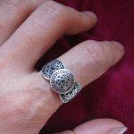 Miao Xiang Dongzhai minority ethnic <b>jewelry</b> <b>handmade</b> Miao silver ring ring small copper drum