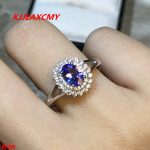 KJJEAXCMY Fine <b>jewelry</b> 925 Sterling <b>Silver</b> with natural 4A color ring Tanzania shinv wholesale alive.