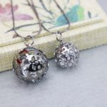 Double Hollow Ball Crystal Circle Necklace For Women Female Necklace Lover`s Gift Necklace Sweater Chain Fashion <b>Jewelry</b> <b>Making</b>