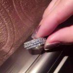 Size 6/7/8/9 Luxury <b>jewelry</b> <b>Handmade</b> 925 Sterling Silver Filled Full White CZ Zirconia Women Wedding Rotatable Band Ring Gift