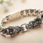 <b>silver</b> <b>jewelry</b> wholesale 925 <b>sterling</b> <b>silver</b> <b>jewelry</b> chain new men's domineering leading flat bracelet xh043555w