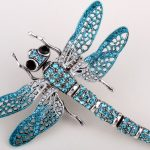 Big shaky dragonfly stretch ring <b>antique</b> silver & gold color W crystal bling scarf <b>jewelry</b> for women wholesale dropshipping