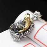 Ecoworld Ge <b>jewelry</b> wholesale 925 <b>Sterling</b> <b>Silver</b> Pendant <b>Silver</b> Plated Vintage Handmade annual fish pendant Pendant