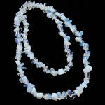 SAUVOO Opal Moonstone Gravel Loose Spacer Beads 8-12mm for DIY Bracelet Necklace <b>Jewelry</b> <b>Making</b> Materials 80cm/Strand F2077