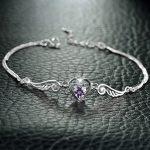 Jemmin Real 925 Sterling <b>Silver</b> Heart Natural Crystal <b>Bracelets</b> For Women Fine Jewelry <b>Silver</b> Bangle <b>Bracelet</b> Gift