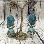 Original European Made Old Bronze Green Retro Earrings Boho Hippie <b>Jewelry</b> Gypsy Women Thailand Nepal India Afghanistan Pakistan