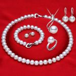 RUNZHUQIYUAN 2017 100% natural Freshwater Pearl necklace jewelry sets 925 sterling <b>silver</b> jewelry pearl for women weddings gift