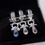 3pcs S925 Sterling Silver Beads Pink White Blue Pacifier Charms <b>Jewelry</b> Set Fit Bracelets Necklaces <b>Jewelry</b> <b>Making</b> Woman Gift