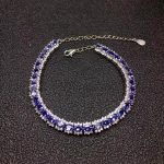 Luxurious link natural blue tanzanite gem Bracelet Natural gemstone bracelet S925 <b>silver</b> Romantic woman girl party gift <b>jewelry</b>