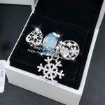 4pcs Fashion S925 Silver Snowflake Cz Golden Star Dangle Charm Bead <b>Jewelry</b> Set Fit Bracelet Necklaces <b>Jewelry</b> <b>Making</b> Woman Gift