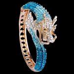 Bella <b>Fashion</b> Luxury Fly Dragon Animal Bangle Austrian Crystal Rhinestone Bracelet Cuff For Women Party <b>Jewelry</b> Silver Gold Tone
