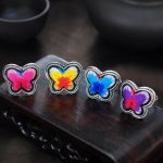 100% <b>handmade</b> more style Embroidery rings Miao silver ethnic cotton <b>jewelry</b> LOVE creative personality colorful ring