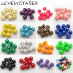 (Choose Size/Color First) 8mm/10mm/12mm Acrylic Bling Rhinestone Beads For Chunky Kids <b>Jewelry</b> <b>Making</b>