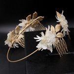 new Baroque Hairbands Gold Bridal tiara Comb <b>Wedding</b> <b>Jewelry</b> Hair Comb Leaves Headbands Retro Luxury Hair Wear women Accessories