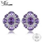 JewelryPalace Luxury 4.6ct Created Alexandrite Sapphire Stud <b>Earrings</b> 925 Sterling <b>Silver</b> Jewelry Trendy <b>Earrings</b> For Women Gift
