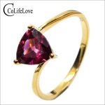 CoLife <b>Jewelry</b> Classic pyrope <b>silver</b> ring trangle natural pyrope garnet ring solid 925 sterling <b>silver</b> romantic gift for girl