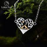 Lotus Fun Real 925 Sterling <b>Silver</b> Handmade Fine Jewelry Romantic Bird in Love Heart Shape <b>Bracelet</b> for Women