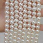 All Match 8-9MM Akoya White Pearl Shell Necklace Rope Chain Beads <b>Jewelry</b> <b>Making</b> Natural Stone 130inch (Minimum Order1)