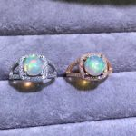 Natural opal Ring Natural gemstone ring 925 <b>sterling</b> <b>silver</b> trendy Elegant Hollow Exquisite square women girl party gift <b>Jewelry</b>