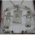 Prett Lovely Women's Wedding Hot Sell ! Jewellery white gem necklace bracelet earring set n06