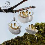Lotus Fun Moment Real 925 Sterling Silver Natural <b>Handmade</b> Original Designer Fashion <b>Jewelry</b> My Little Garden <b>Jewelry</b> Set Bijoux