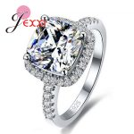 JEXXI Luxury Geniune 925 Sterling <b>Silver</b> Wedding Engagement Rings Shiny Stone Cubic Zirconia <b>Jewelry</b> For Bridal Big Promotion!