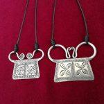 Guizhou Miao Ethnic <b>Jewelry</b> <b>Handmade</b> Miao Silver Necklace Pendant Necklace Chain Character Engraving Lock
