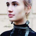 eManco Wholesale Plate Dangle Drop Earrings for Women Brand Zinc Alloy &Glass Earring <b>Fashion</b> <b>Jewelry</b> Black Round Plank