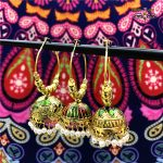 India Arabia <b>Handmade</b> Painted Glaze Exquisite Golden Birdcage Earrings Women's Retro Pearl <b>Jewelry</b> Belly Dance Yoga <b>Jewelry</b>