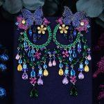 GODKI 90mm Butterfly Flower Boom Luxury Trendy Full Mirco Cubic Zirconia Naija Wedding Dress Drop Earring <b>Fashion</b> <b>Jewelry</b>