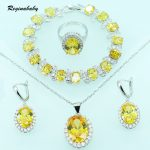 Reginababy Alluring <b>Silver</b> Color Yellow Zircon <b>Bracelets</b> Jewelry Sets For Women Necklace/Earrings/Ring/Pendant/<b>Bracelets</b>