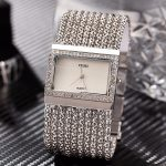 2018 New CUSSI Luxury Brand Womens Quartz Wristwatches Ladies <b>Bracelet</b> Watches Dress Clock Square Generous Reloj Mujer <b>Silver</b>