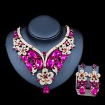Lan palace wedding <b>jewelry</b> sets Glass Rhinestone for bridal gold color <b>necklace</b> and earrings six colors free shipping