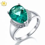 Hutang Engagement Ring 6.21ct Genuine Green Fluorite Gemstone Solid 925 Sterling <b>Silver</b> Solitaire Fine Fashion Stone <b>Jewelry</b> New