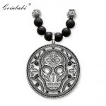 Necklace Skull Trendy Gift For Women & Men, Thomas Style Heart Rebel TS 925 Sterling <b>Silver</b> Fashion Jewelry Wholesale