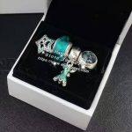4pcs Fashion S925 Silver Green Enamel Fairy Dangle Charms Beads <b>Jewelry</b> Set Fit Bracelet Necklaces <b>Jewelry</b> <b>Making</b> Woman Gift