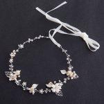 TREAZY Luxury Freshwater Pearl Crystal Floral Headband Wedding Hair Accessories <b>Handmade</b> Flower Tiaras Bridal Hair <b>Jewelry</b>
