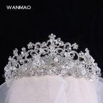 High-end Baroque retro large bride wedding crown <b>jewelry</b> boutique headdress <b>handmade</b> crystal wedding headdress HD469