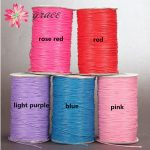160m/lot 1mm Waxed Cotton Thread Colorful Nylon Leather Cord For Diy <b>Making</b> String Braids Bracelets Necklace <b>Jewelry</b> Materials