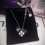 New Hot 925 Sterling <b>Silver</b> Bee Clover Pendant <b>Necklace</b> Clavicle Short Choker Best Gift For Women