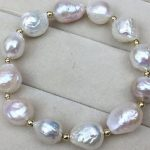 7.5″ 12-13MM NATURAL SOUTH SEA WHITE PEARL <b>BRACELET</b>