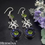 Bright Green Peridot Murano Glass Special Christmas 925 Sterling Silver Earrings For Women NY727 Party Queen <b>Jewelry</b> <b>Handmade</b>