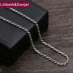 2017 925 Sterling Thai <b>silver</b> Vinage <b>Necklace</b> Men Weave Rope Pendant Long Chain <b>Necklace</b> women Gift Fine Jewelry N22