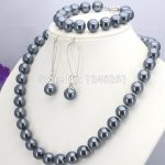 Selling <b>Jewelry</b>>>>Wholesale Accessories 10mm Silver Glass Pearl Beads Necklace Bracelet Earrings Sets <b>Jewelry</b> <b>Making</b> Design