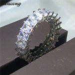 choucong <b>Wedding</b> Band Ring for women Full princess cut Diamonique cz 925 Sterling silver Engagement Rings Bridal fashion <b>jewelry</b>