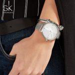 Shengke Brand Watch Ladies Quartz Watches Women <b>Silver</b> Mesh Wristwatch Crystal Luxury Simple <b>Bracelet</b> Watches Relogio Feminino