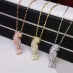 Women brand Fashion <b>necklaces</b> Pendants Panther Copper Rose Gold Zircon CZ <b>Necklace</b> gold color animal famous <b>Jewelry</b>