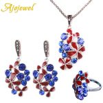Ajojewel Super Star <b>Jewelry</b> Sets New Style Enamel Painted And Top Quality Zirconia Flower Design 2018 Ethnic Vintage <b>Accessories</b>