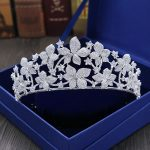 Gorgeous Vintage Prong Setting Clear Cubic Zircon Wedding Tiara CZ Bridal Queen Princess Pageant Royal Party Crown Women <b>Jewelry</b>